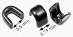 Reißverschluss-Anfangsteile RT20 schwarz-vernickelt