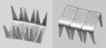 Reißverschluss-Endteile 6 mm U-Form Aluminium