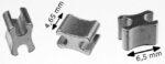 Reißverschluss-Endteile RT10 X-Form Aluminium