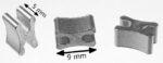 Reißverschluss-Endteile RT20 X-Form Aluminium