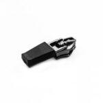Slider No.10 Flatlock semi automatic YG, rubber pull tab, black
