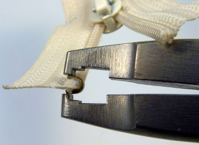 Top stop attached using Osborne pliers