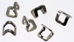 Delrin 9 top stops, stirrup shape, stainless steel