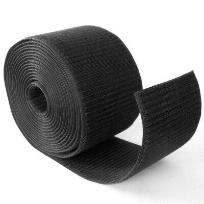 Back-to-Back Velcro hook tape 100 mm, black