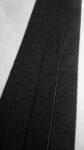 Woven elastic band, 100% elongation, 150 mm (6 inch) width, black