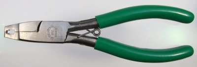 Professional Osborne pliers for zip fastener top stops