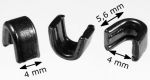Zipper top stops RT25 black nickel-plated