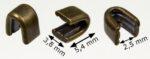 Zipper top stops RT20 antique brass