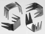 Zipper bottom stops 7-8 mm U-shape aluminium 5 prongs