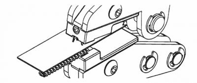 Top stop Sp10 mount on spiral zipper using MPP: 2nd step