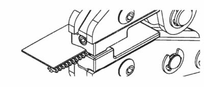 Top stop Sp10 mount on Spiral zipper using MPP: 3rd step