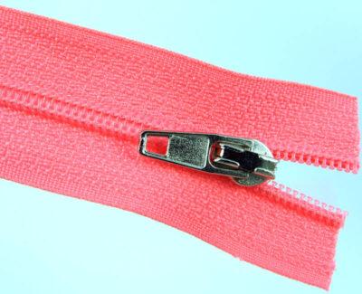 Spiral zipper No.0 endless long chain, pink