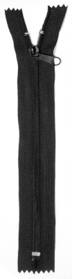 Zip spiral No.10, nonlock, 24 cm, black