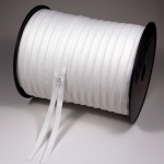 S0 continuous spiral zipper chain on 300 m roll, raw white TA030, with gaps every 100 m