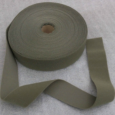 Velours tape, 50 mm, olive green