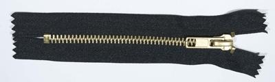 Zip M10 brass, a/l, 12 cm, black