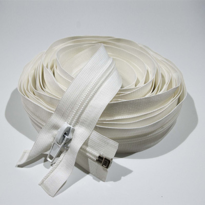 Zip spiral No.20, separable, autolock, 700 cm, raw white