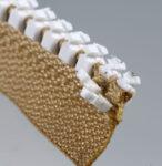Plastikzähne vom Spritzgussgliederreißverschluss Delrin 9 abgespalten