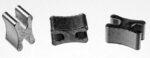Reißverschluss-Endteile X-Form für Metall- & Delrin-Reißverschlüsse