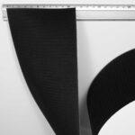 Klettband (Hakenseite) mit schweißbarer Rückseite, gemessene Breite