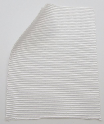 Polypropylene webbing, 1.35 mm thick, 100 mm wide, white