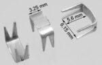 Reißverschluss-Endteile 6 mm U-Form Aluminium mit Maßen