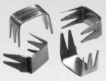 Reißverschluss-Endteile 7-8 mm U-Form Aluminium 5-Zacken