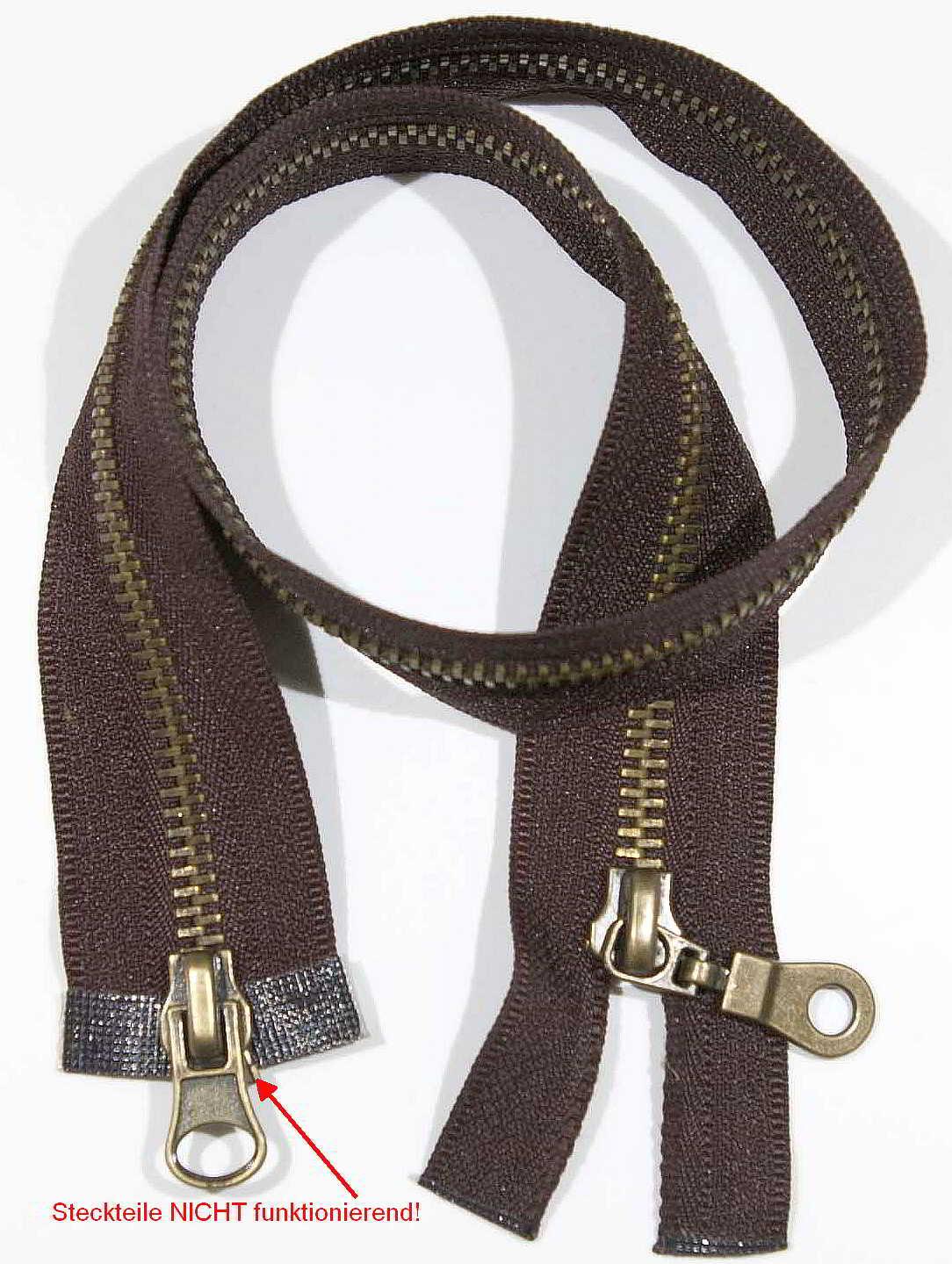 70 cm Zipper profile divisible light grey