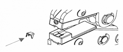 Anfangsteil Sp10 mittels MFZ an Spiralreißverschluss montieren: 1. Arbeitsschritt