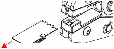 Anfangsteil Sp10 mittels MFZ an Spiralreißverschluss montieren: 4. Arbeitsschritt