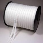 S0 Endlos-Reißverschluss-Rolle á 300 m, rohweiß TA030, mit Lücken je 100 cm