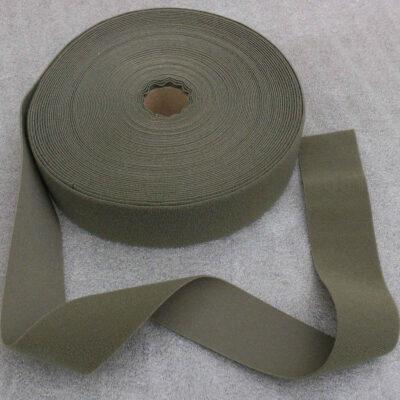 Veloursband 50 mm, olivgrün