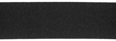 Webgummiband, appretiert, 100% Dehnung, á 50-m-Rolle, 50 mm, schwarz